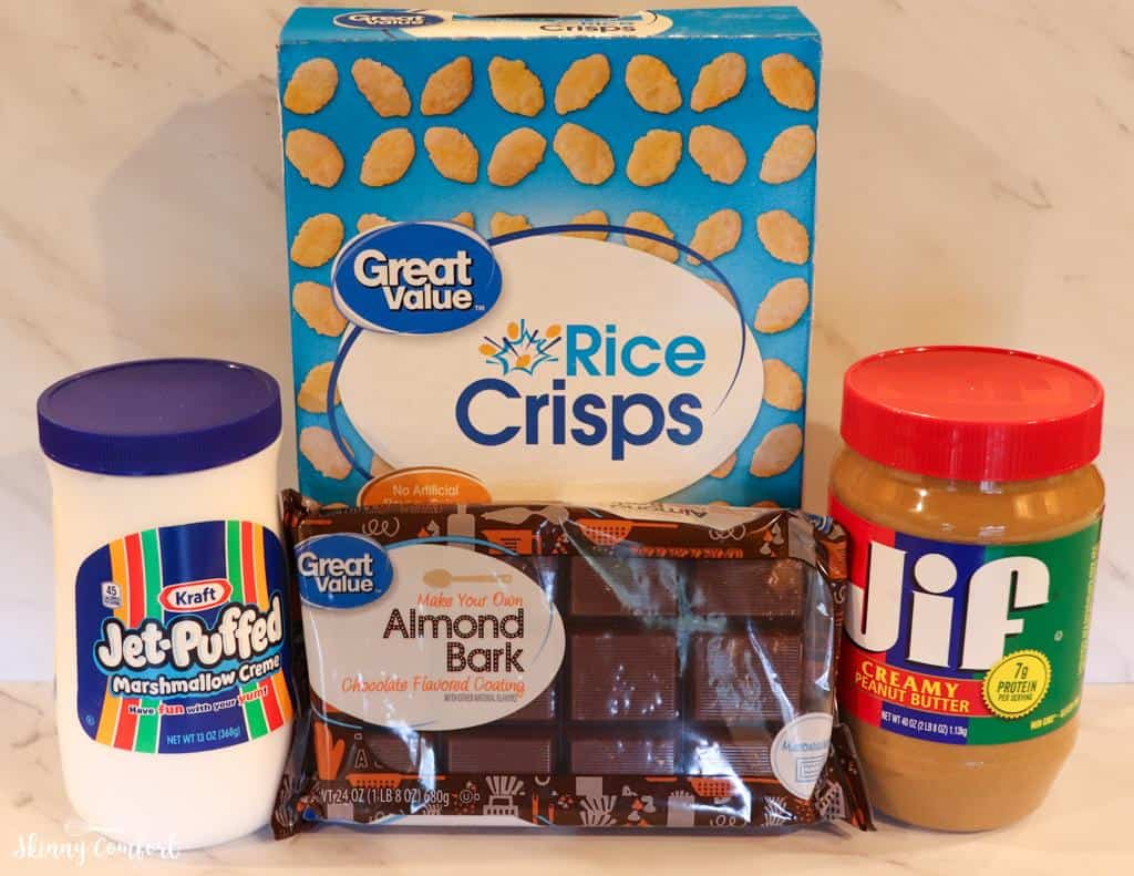Ingredients in Peanut Butter Balls with Rice Krispies