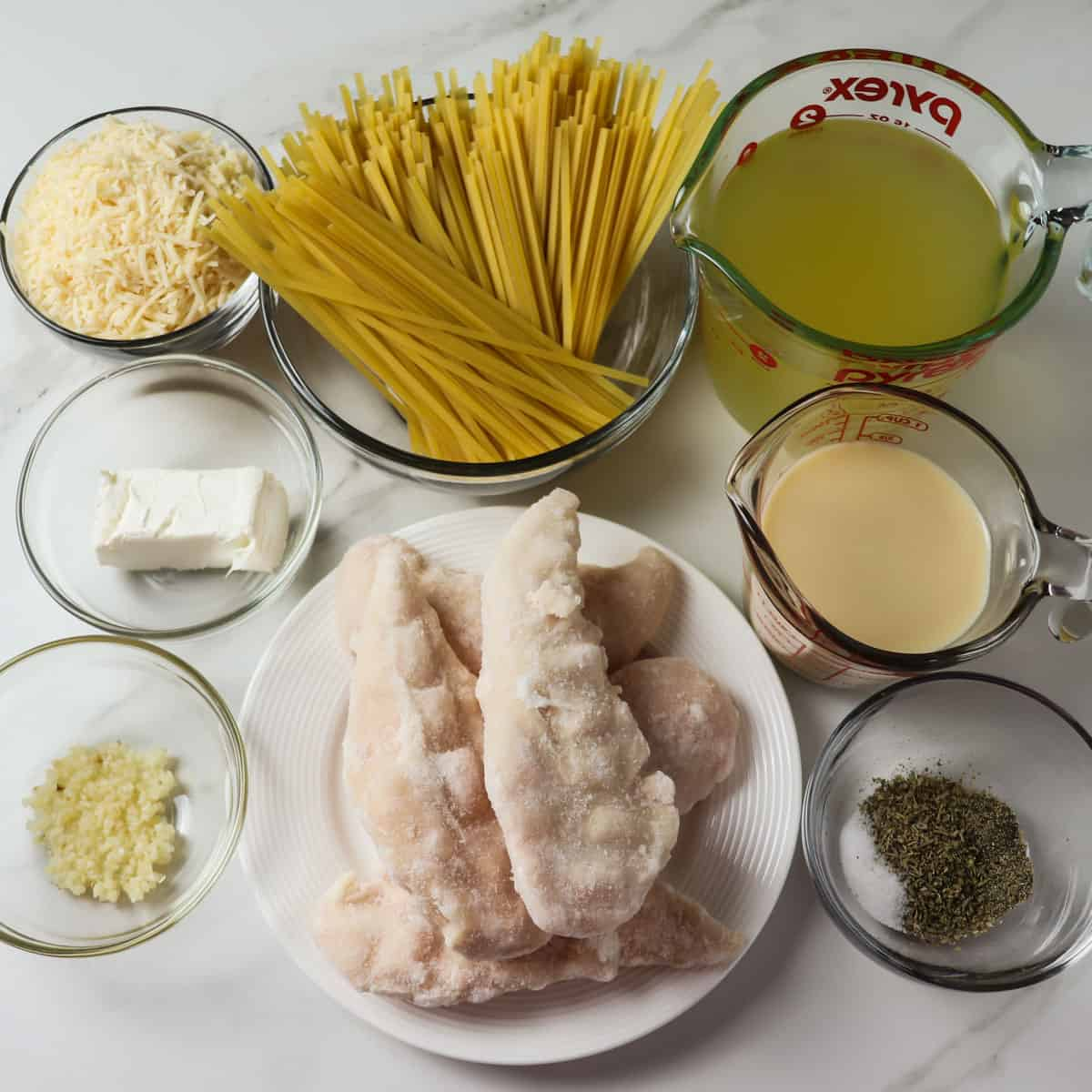 ingredients for instant pot chicken alfredo