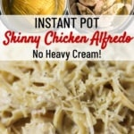 instant pot skinny chicken alfredo with no heavy cream