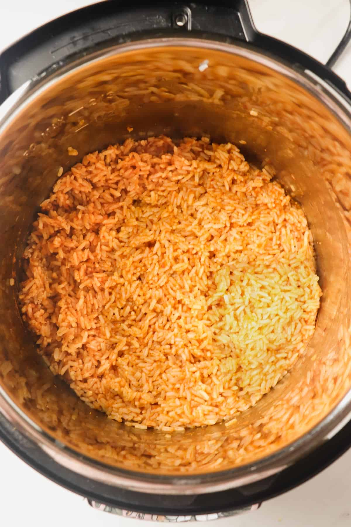 finished mexican rice in the instant pot