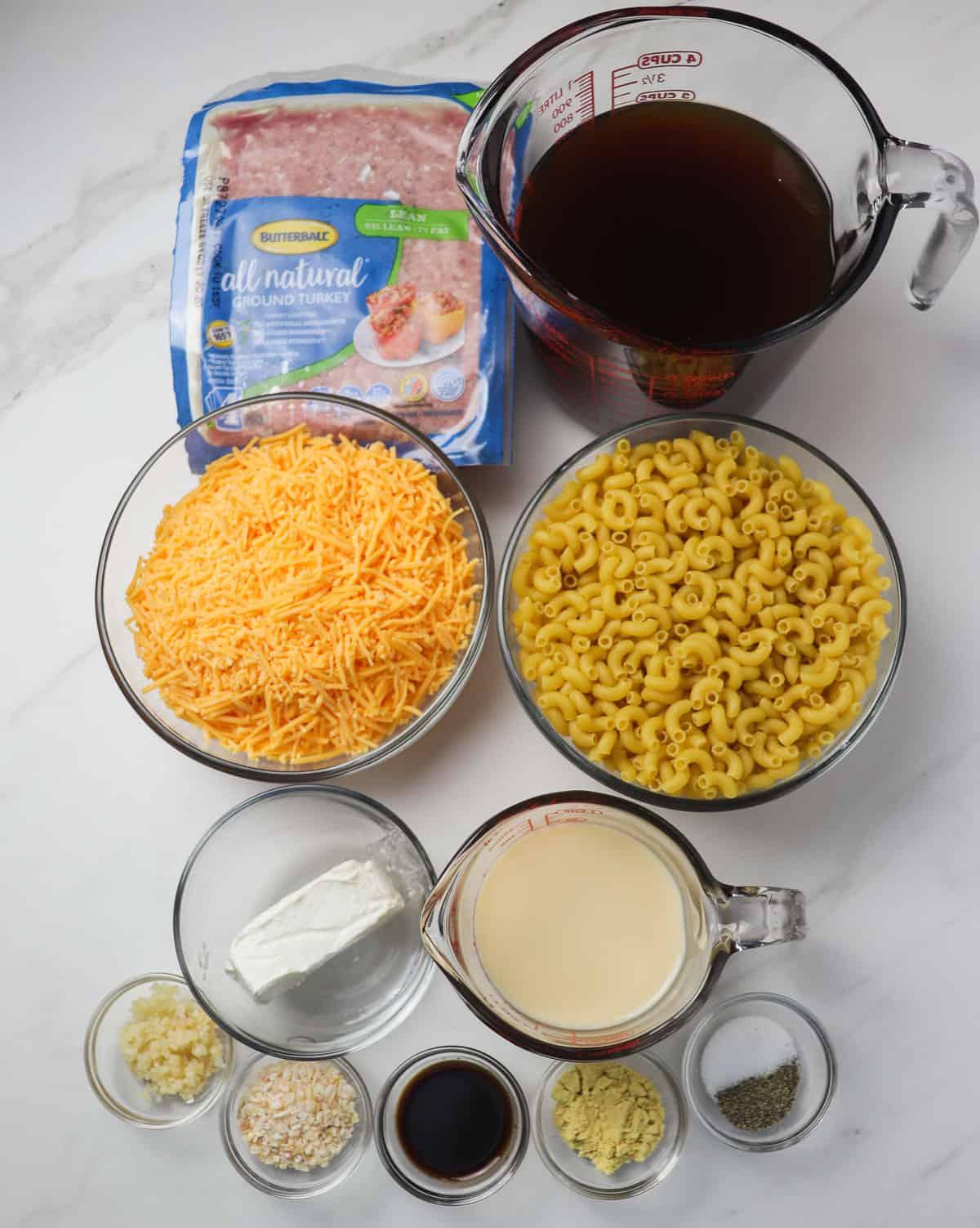 ingredients for instant pot hamburger helper