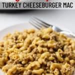 plate of turkey cheeseburger macaroni