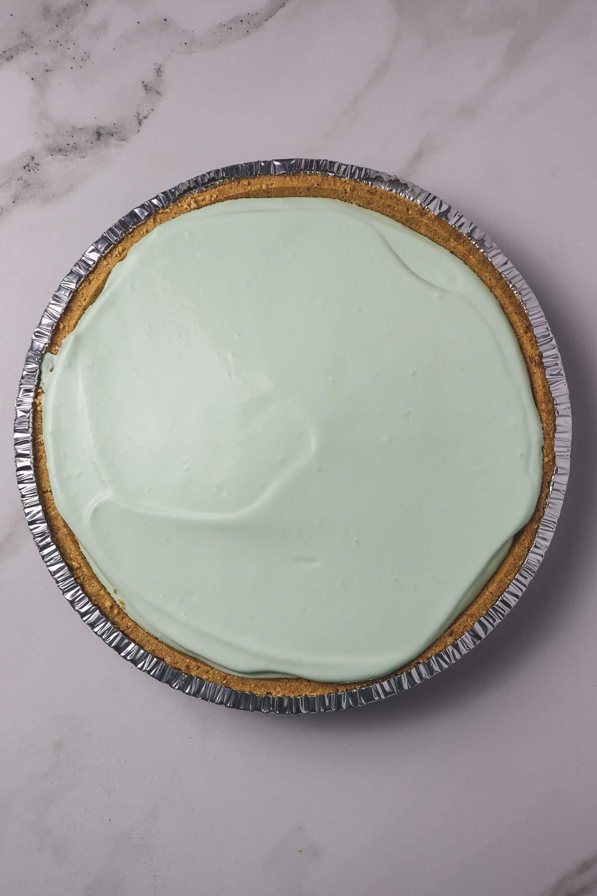 finished no-bake skinny key lime pie
