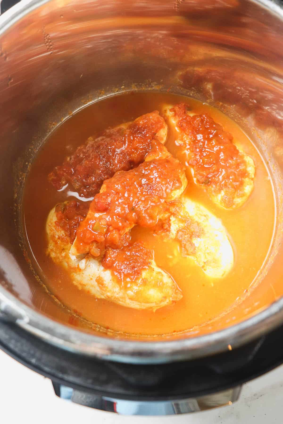 cooked chicken tenders in instant pot