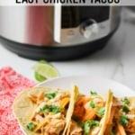 instant pot shredded chicken tacos
