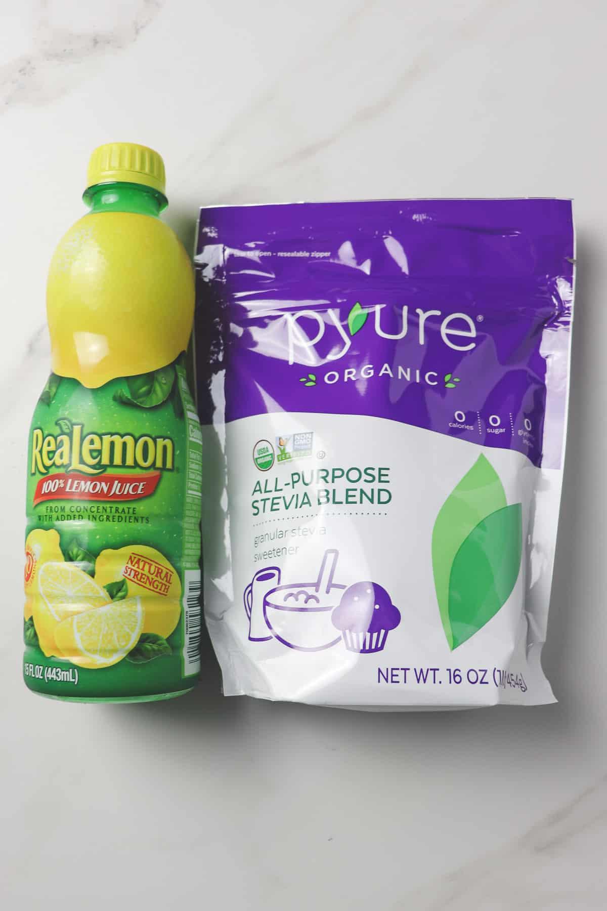 ingredients for sugar free lemonade