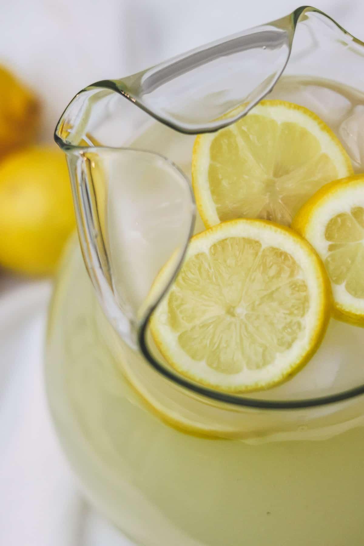 pitcher of sugar free lemonade