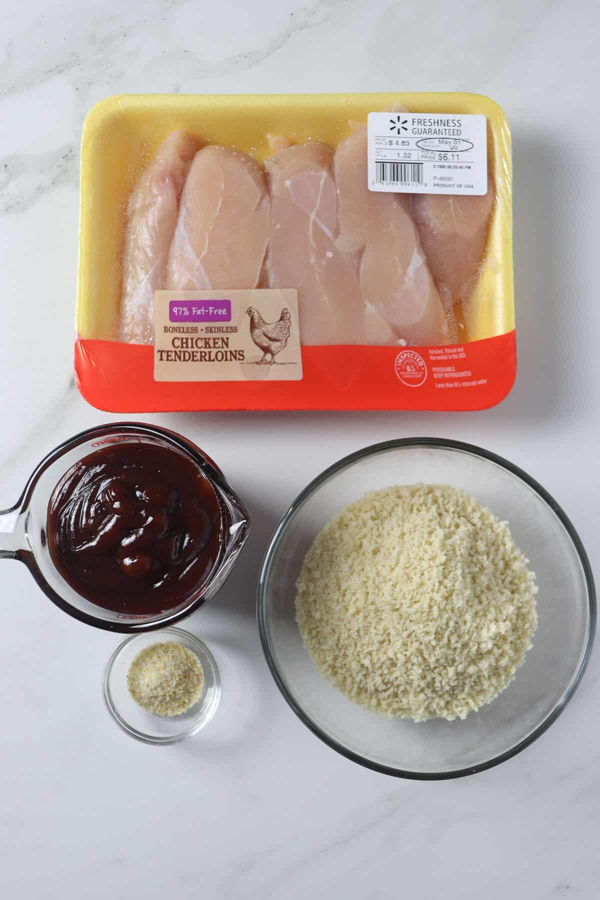 ingredients in air fryer crunchy bbq chicken tenders