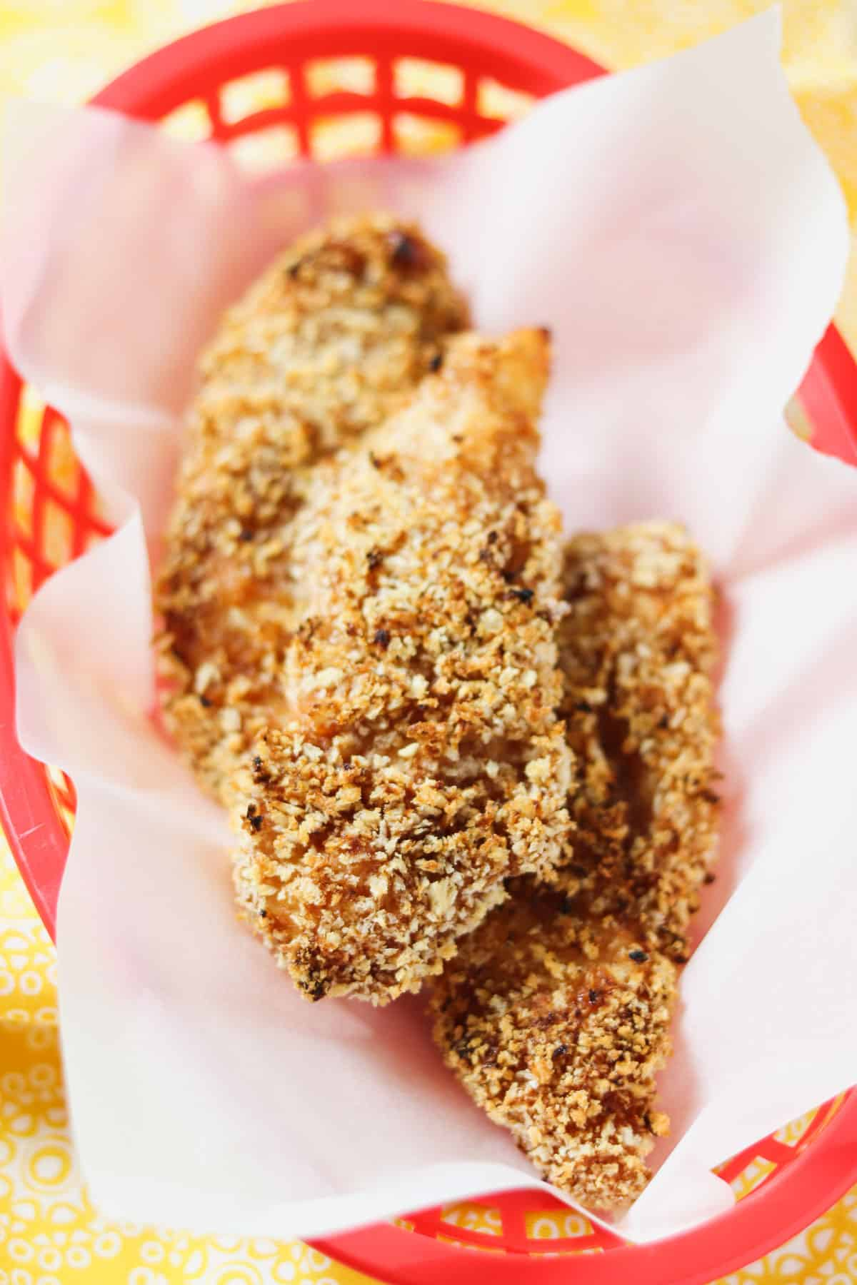 basket of air fryer bbq chicken tenders