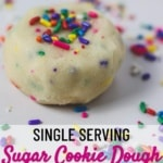 edible sugar cookie dough for one