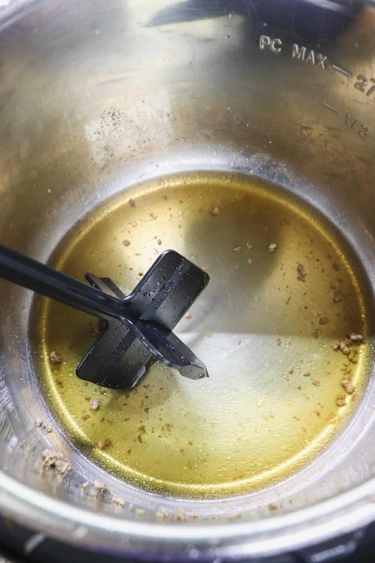 deglazing the instant pot liner