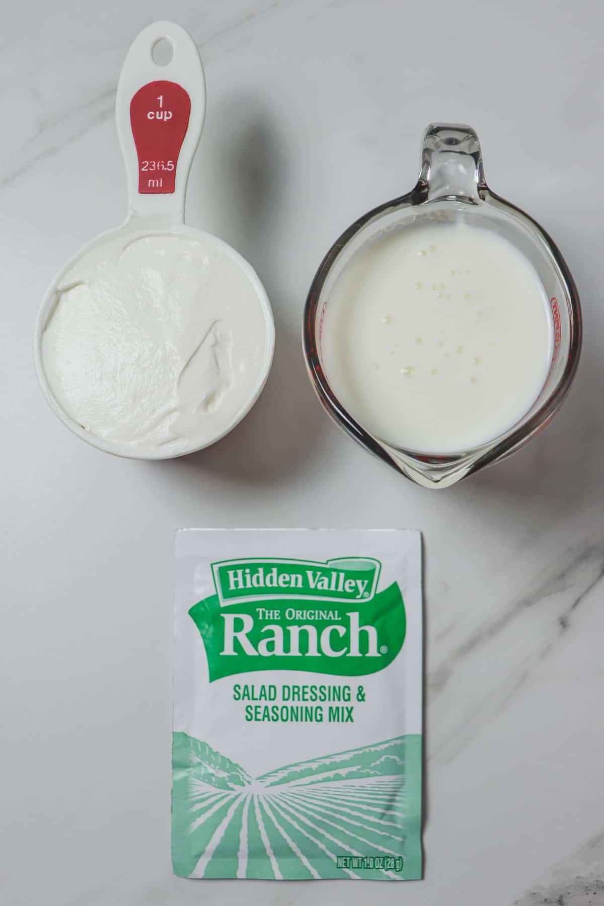 ingredients in low calorie buttermilk ranch dip