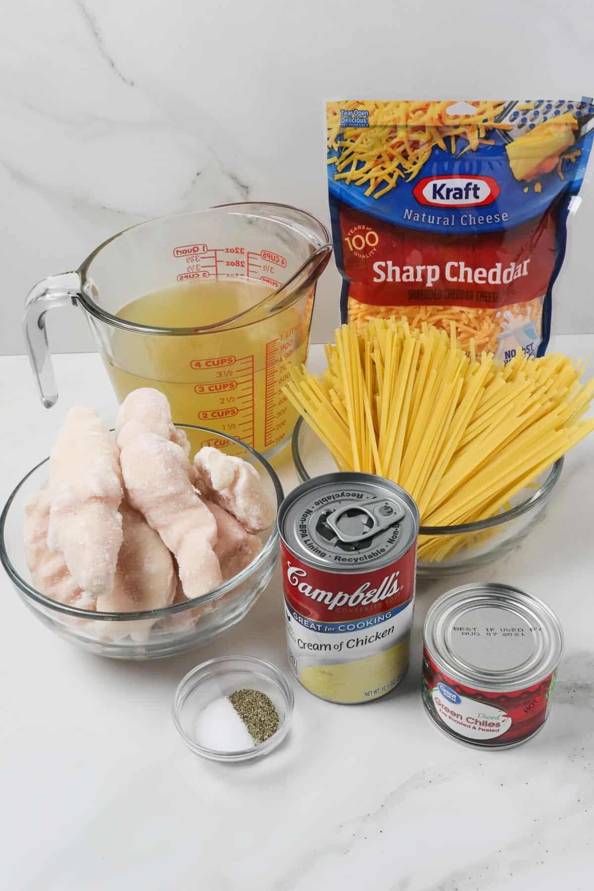 ingredients in instant pot chicken spaghetti