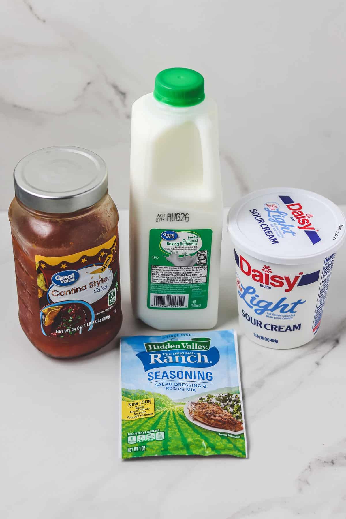 ingredients for light salsa ranch dressing