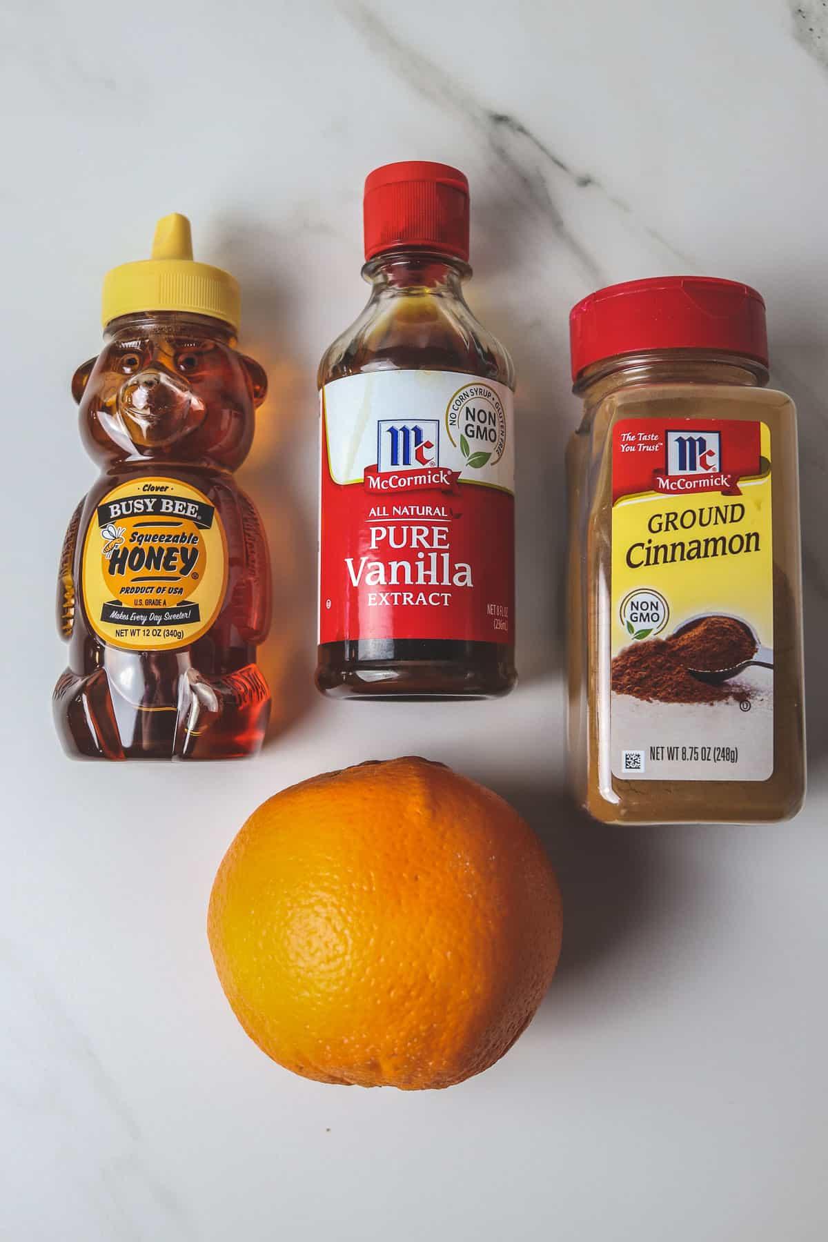 ingredients for baked oranges