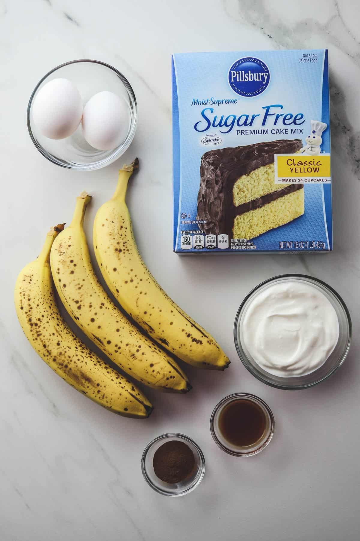 ingredients in banana bread