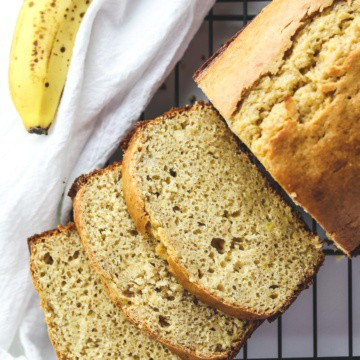 banana bread cut into slices