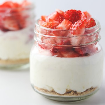 jars of low calorie cheesecake