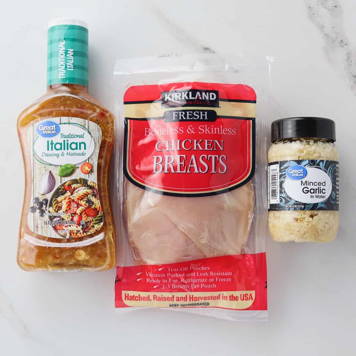 ingredients for Italian chicken breasts