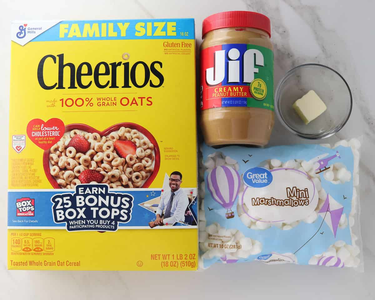 ingredients for cheerio bars
