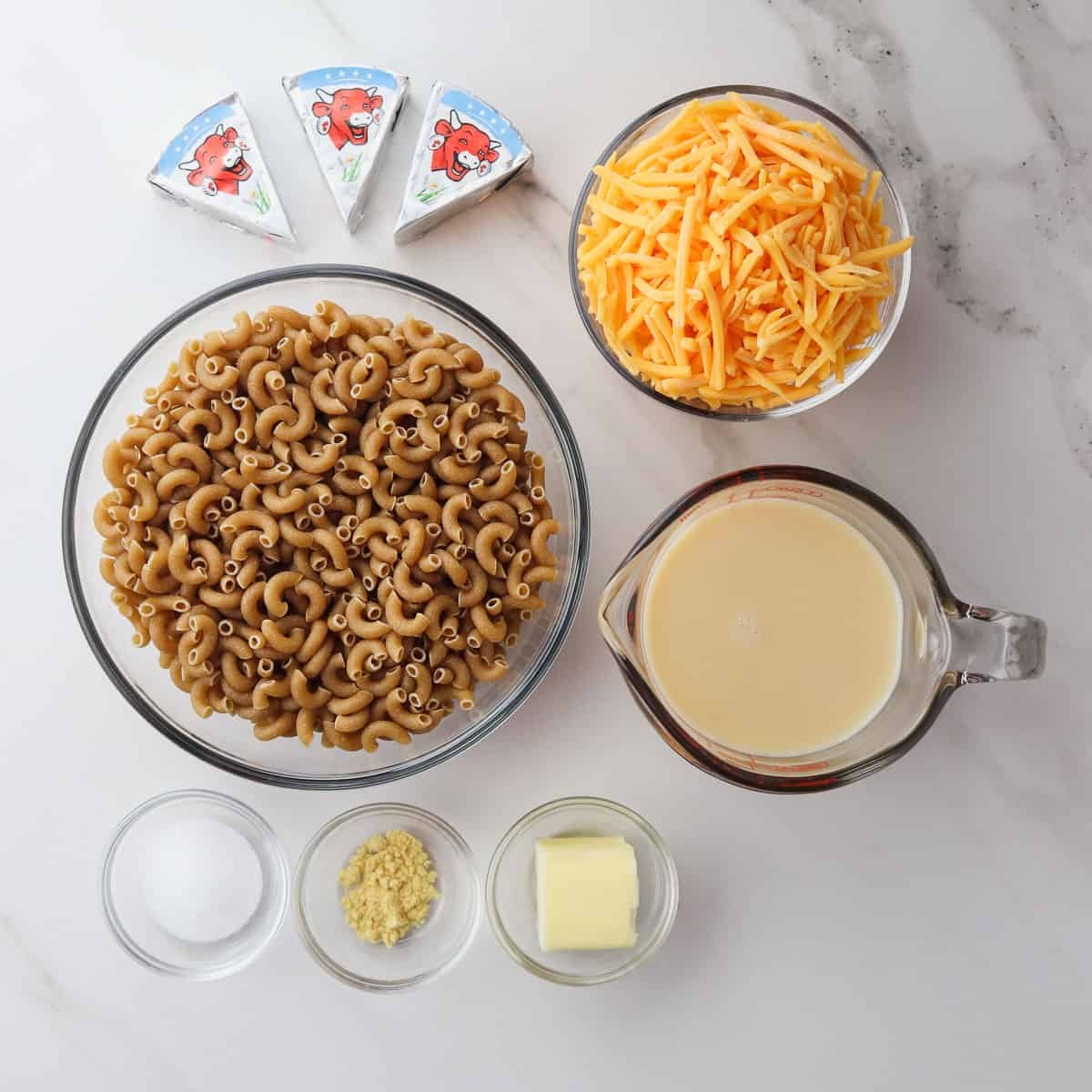ingredients for healthy mac and cheese