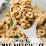 Healthy mac and cheese pinterest pin