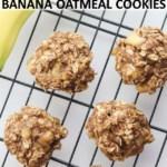 3 ingredient banana oatmeal cookies