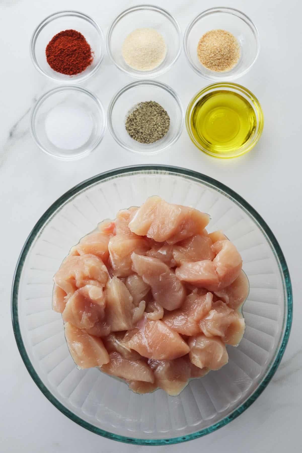 ingredients for rotisserie chicken bites
